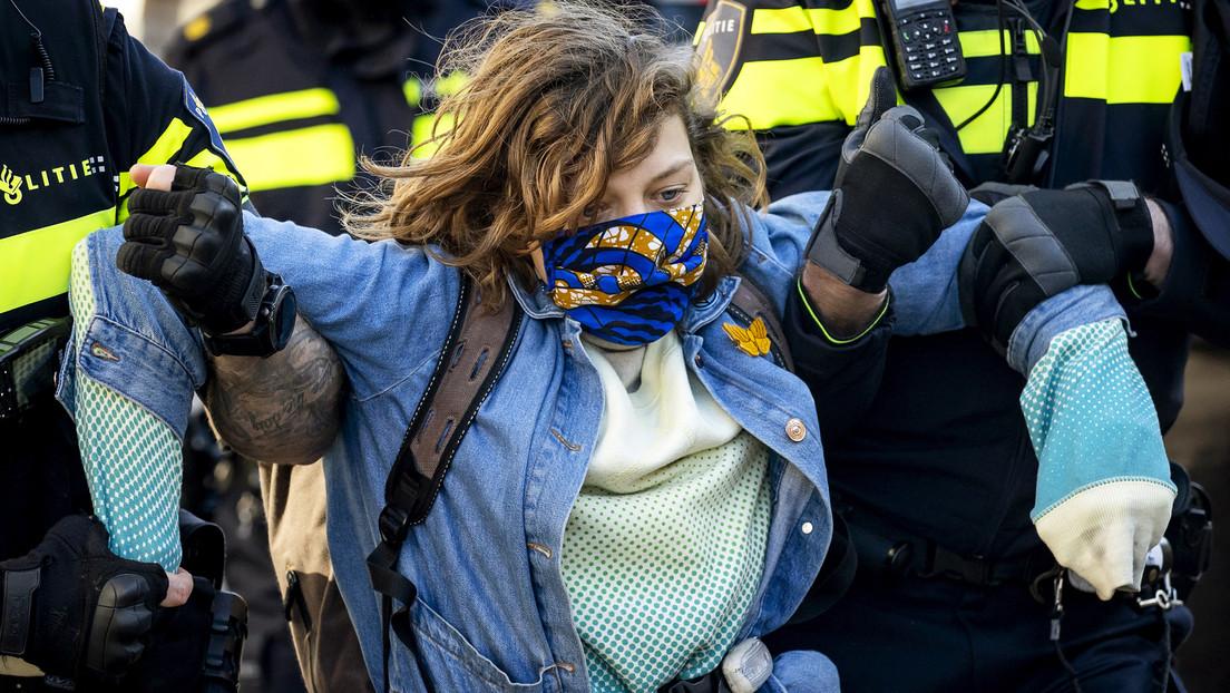 Extinction Rebellion von der Polizei festgesetzt