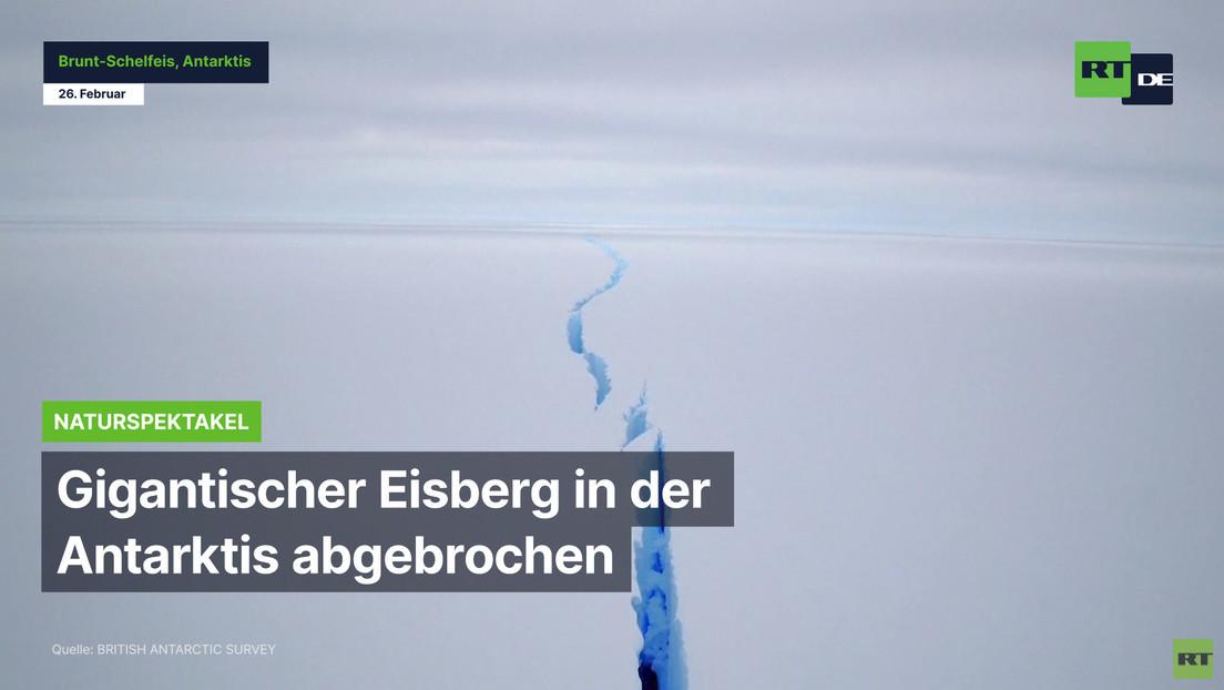 Gigantischer Eisberg in der Antarktis abgebrochen
