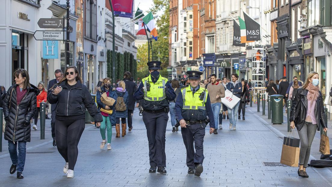 Proteste gegen Lockdown-Verlängerung in Dublin eskalieren