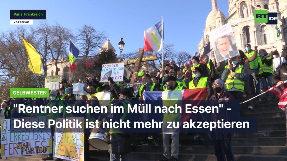 """Gelbwesten: """"Rentner suchen im Müll nach Essen"""" - Diese Politik ist nicht mehr zu akzeptieren"""