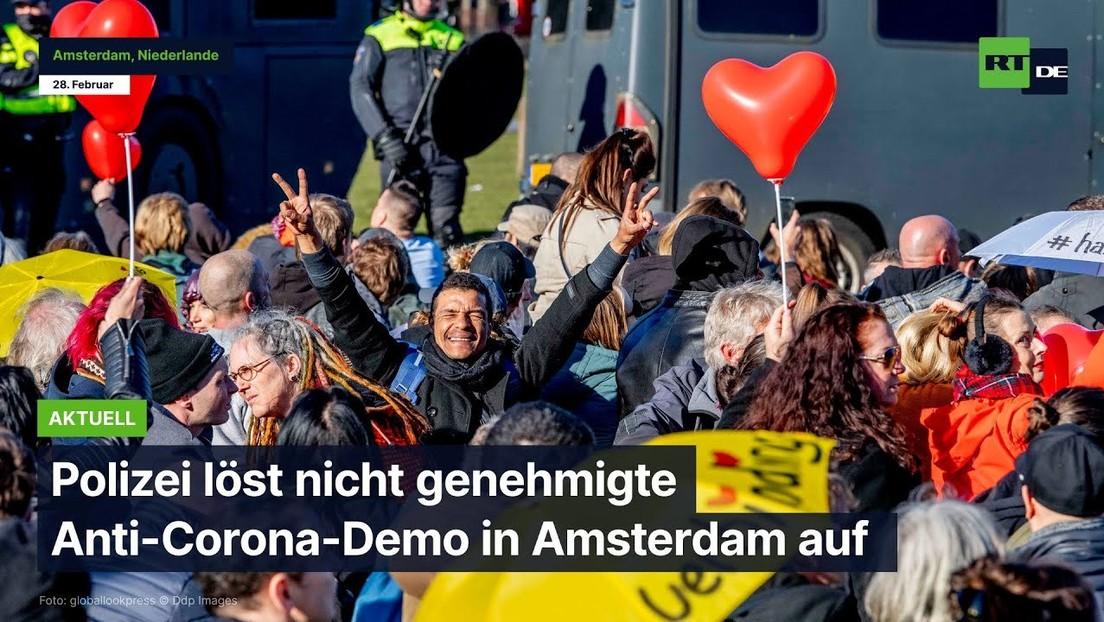 Niederlande: Polizei löst Anti-Corona-Demo in Amsterdam auf