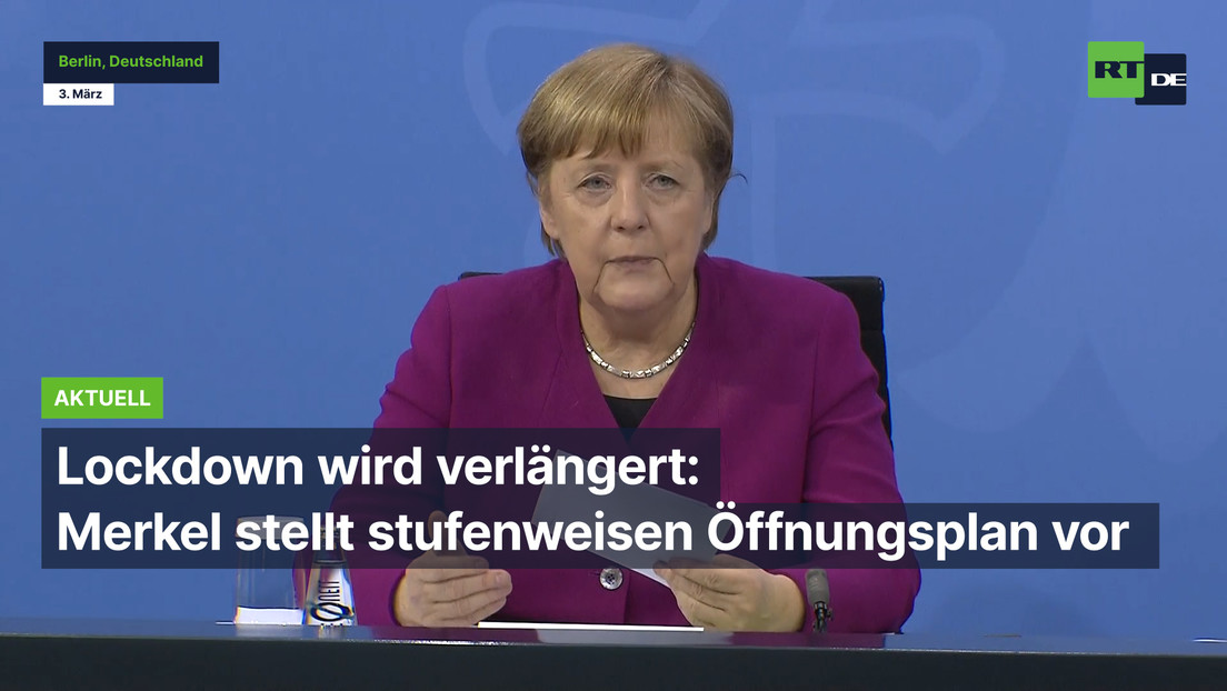 Lockdown wird verlängert: Merkel stellt stufenweisen Öffnungsplan vor