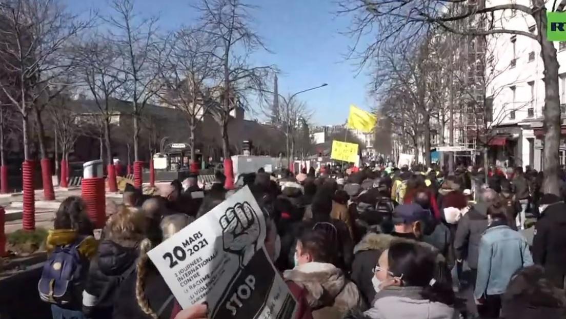 LIVE: Protest in Paris gegen die Fortsetzung der Corona-Maßnahmen