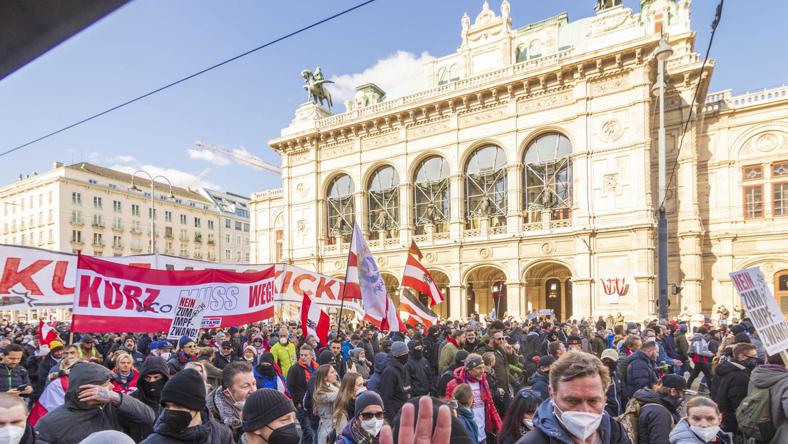 Wien: Demonstration gegen staatliche Corona-Maßnahmen