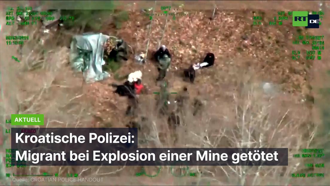 Kroatische Polizei: Migrant bei Explosion einer Landmine getötet