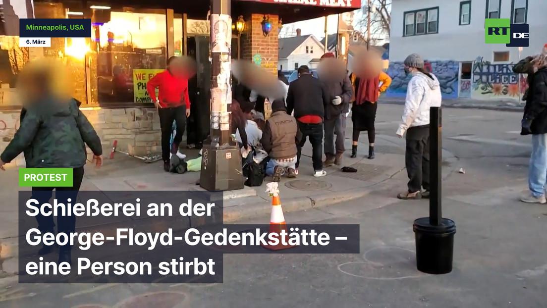 USA: Schießerei an der George-Floyd-Gedenkstätte – eine Person stirbt