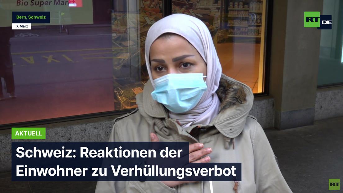 Schweiz: Reaktionen der Einwohner zu Verhüllungsverbot