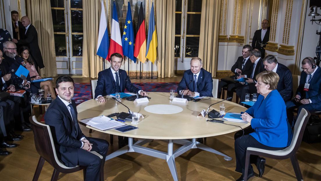 Wladimir Selenskij ist vor dem Normandie-Quartett zu persönlichen Treffen bereit