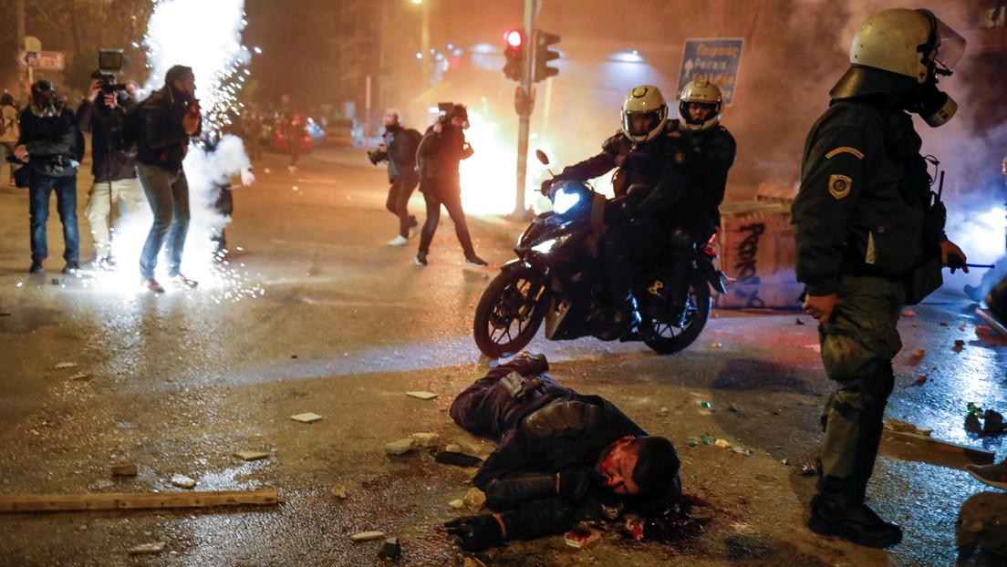 Ausschreitungen in Athen: Verletzte und Festnahmen nach anfangs friedlicher Demo gegen Polizeigewalt
