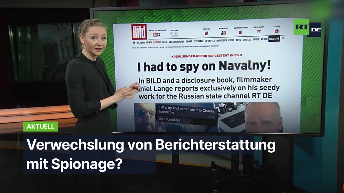 Verwechslung von Berichterstattung mit Spionage?