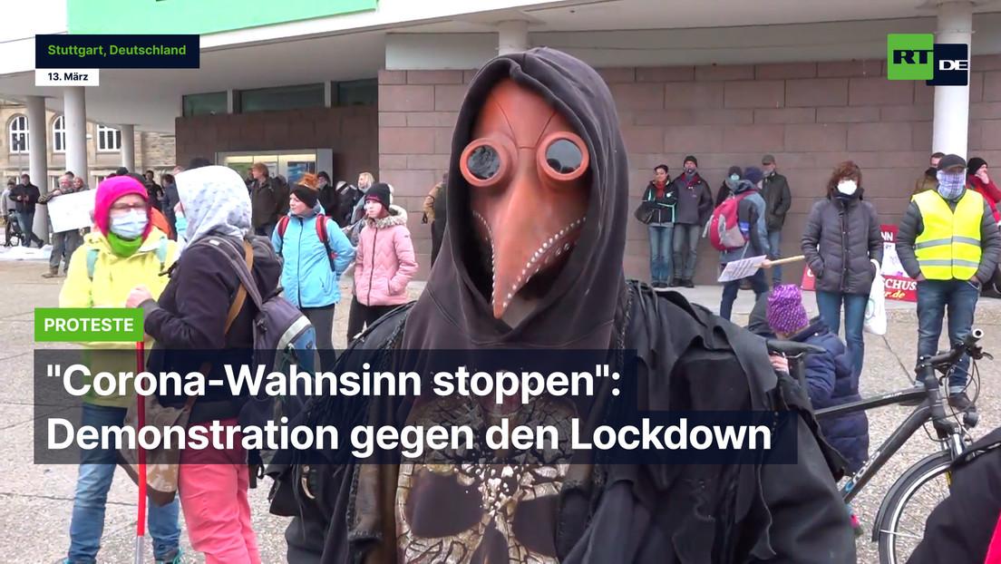 """Corona-Wahnsinn stoppen"": Demonstration gegen den Lockdown in Stuttgart"