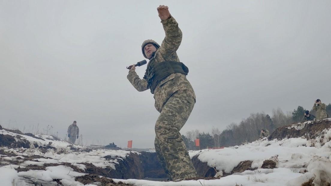 """Vitali Klitschko absolviert Militärtraining – DPA schreibt von Übung """"für Abwehr russischer Panzer"""""""
