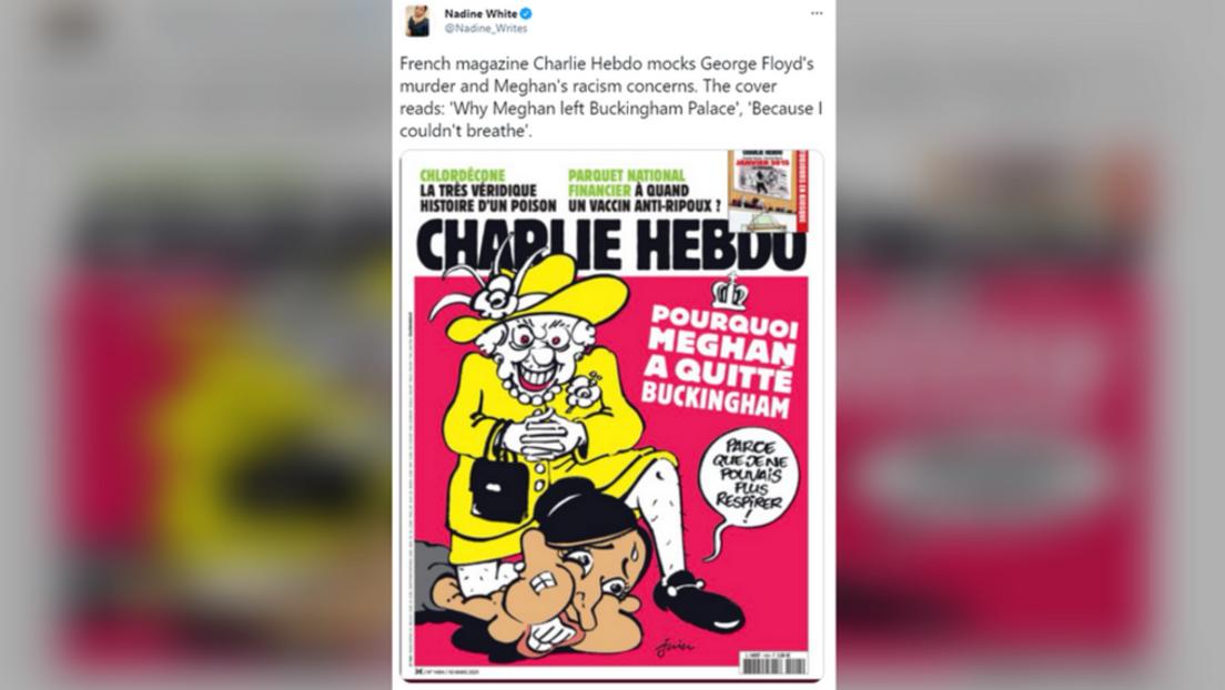 """""""Voll daneben"""": Charlie Hebdo wegen """"Meghan Markle und George Floyd""""-Cartoons in der Kritik"""