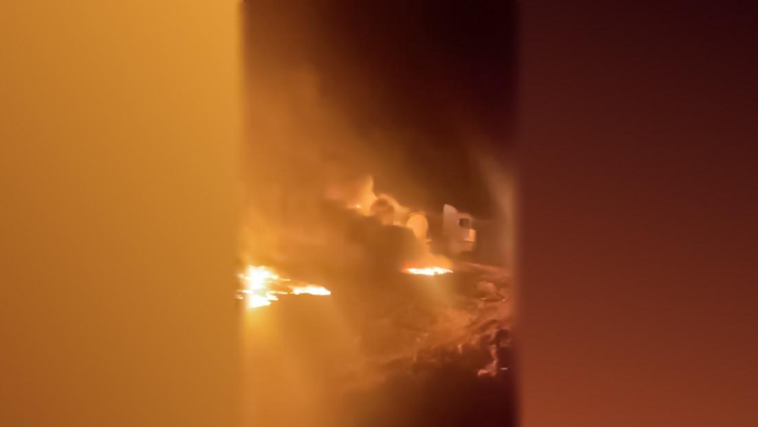 Tankwagen mit syrischem Öl an Grenze zur Türkei zerstört