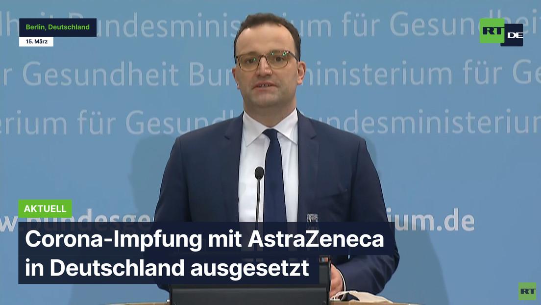 Corona-Impfung mit AstraZeneca in Deutschland ausgesetzt