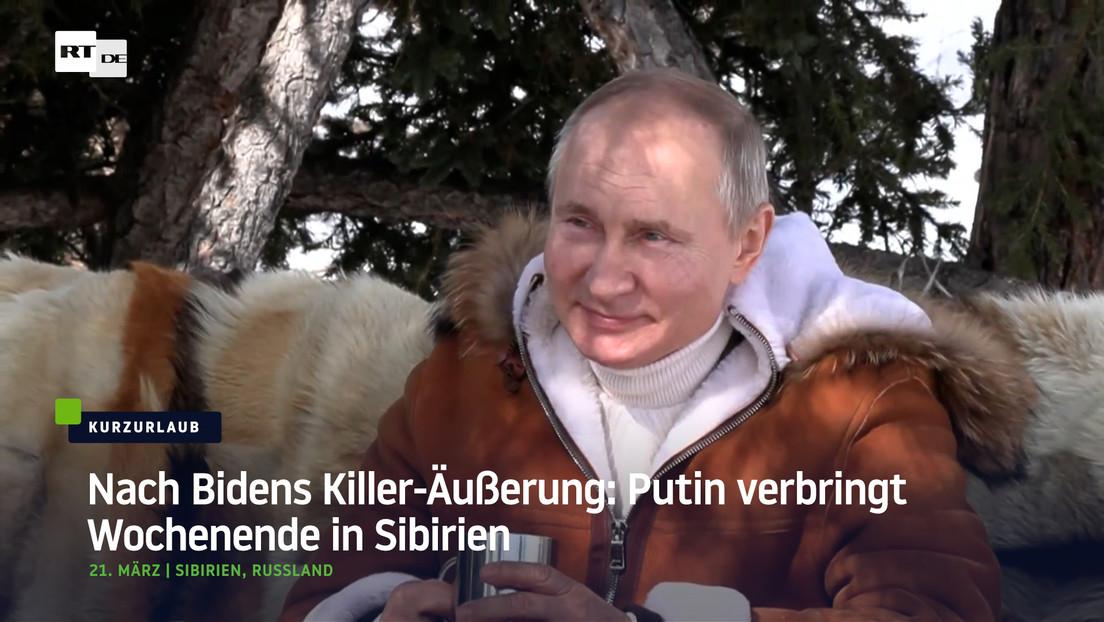 Nach Bidens Killer-Äußerung: Putin hat Spaß in Sibirien