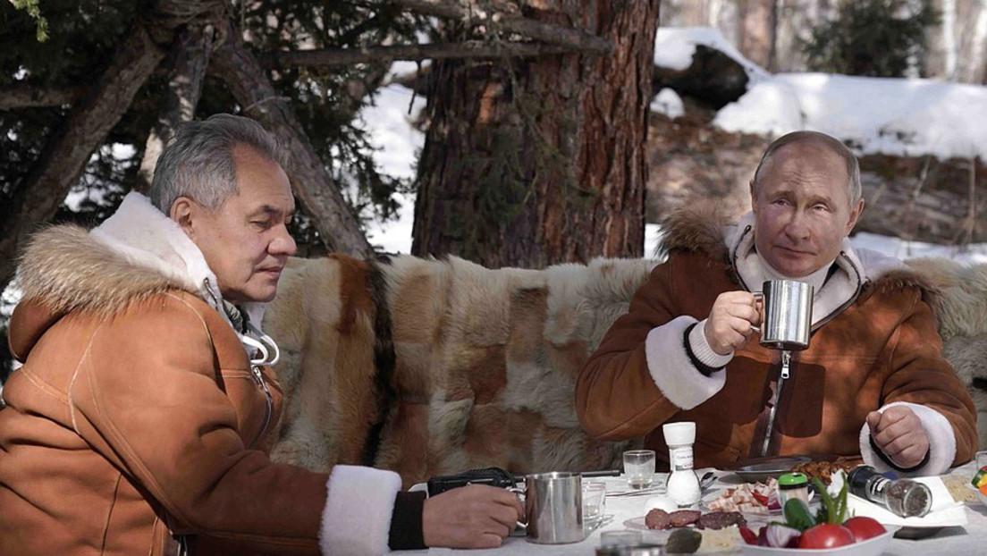 Putin im Kurzurlaub im Sibirischen Föderationskreis