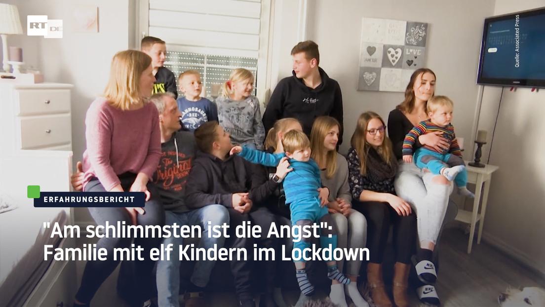 """""""Am schlimmsten ist die Angst"""" – Familie mit elf Kindern im Lockdown"""