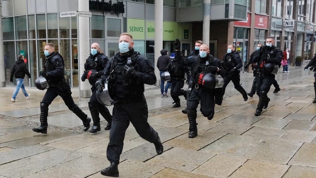 """Sachsen: Demonstrationen gegen """"Corona-Maßnahmen"""" in Dresden und Chemnitz – Polizei greift ein"""