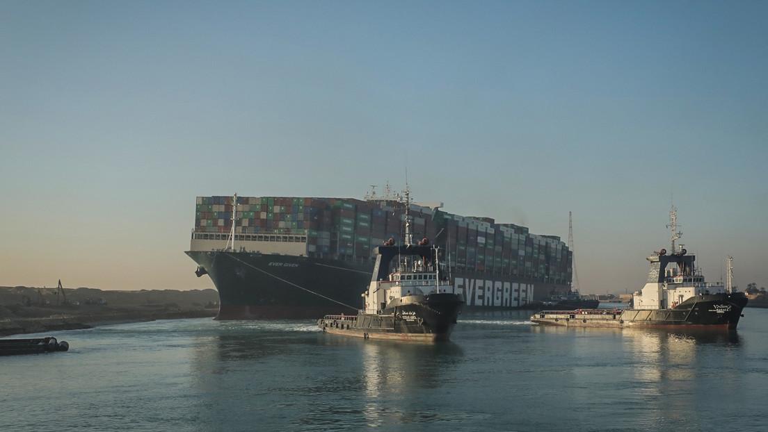 Suezkanal nicht mehr blockiert: Containerschiff Ever Given wieder frei