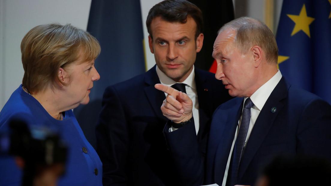 Wladimir Putin verhandelt mit Emmanuel Macron und Angela Merkel über Sputnik V und Nawalny