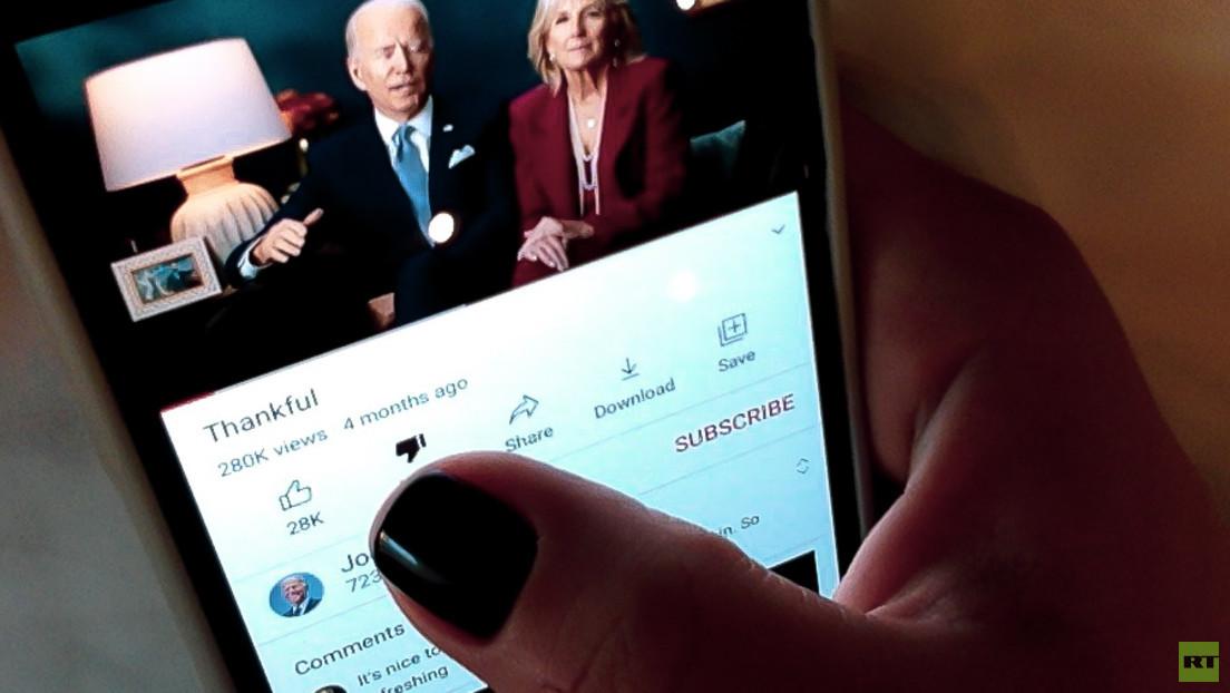 """""""Biden vor weiterem Bloßstellen schützen"""": YouTube verbirgt vorläufig Anzahl von Dislikes"""