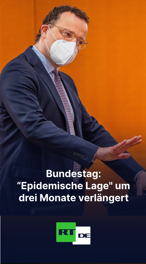 """Bundestag: """"Epidemische Lage"""" um drei Monate verlängert"""