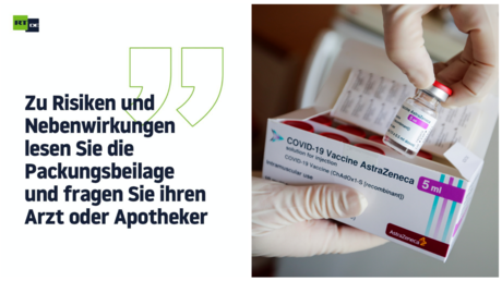 """Kopfschmerzen bis zum Tod? – Wie eine Packungsbeilage den AstraZeneca-Impfstoff """"sicher"""" machen soll"""