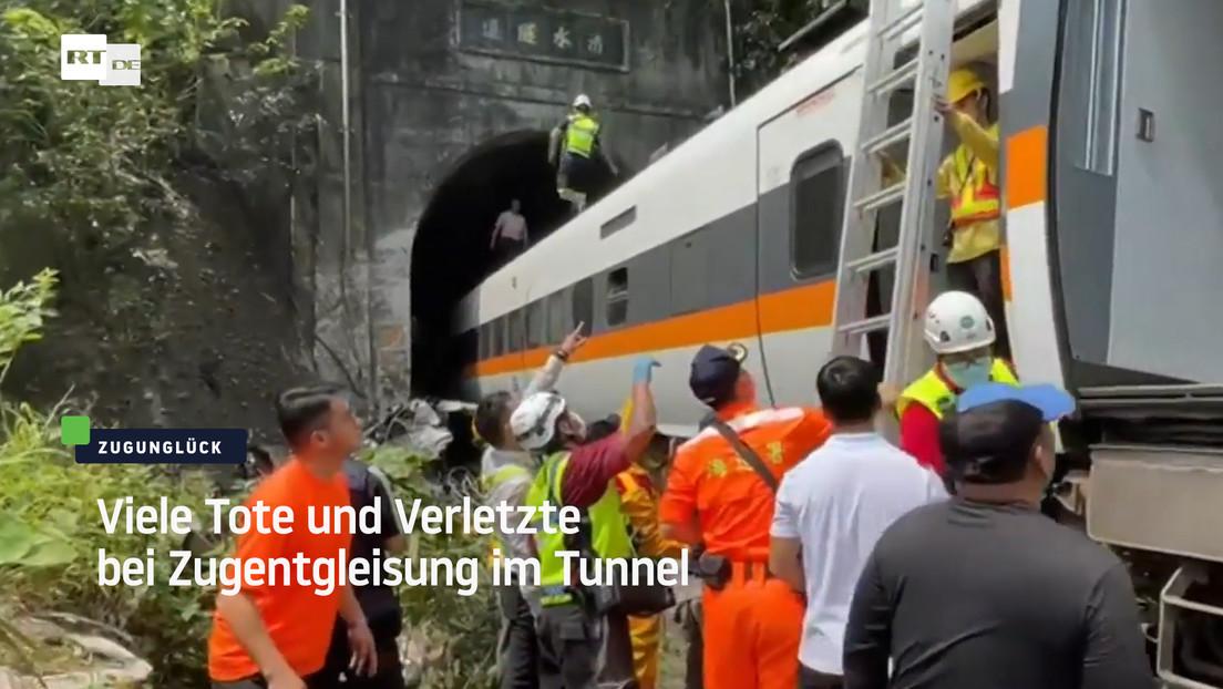 Taiwan: Viele Verletzte und Tote bei Zugunglück im Tunnel