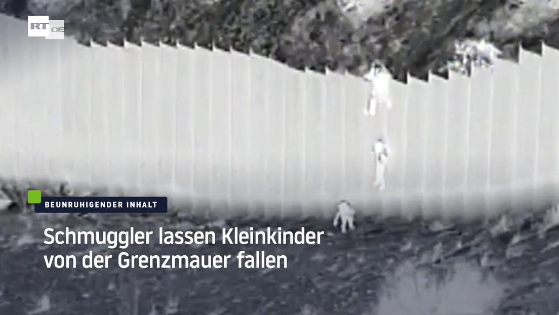 USA: Schmuggler lassen Kleinkinder von der Grenzmauer fallen