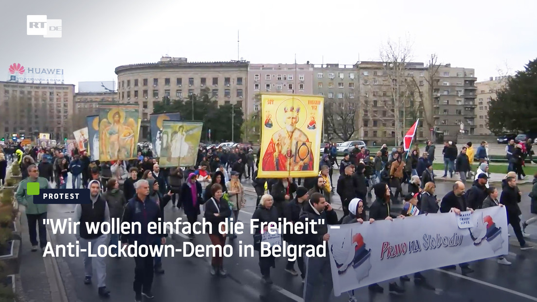 """""""Wir wollen einfach die Freiheit"""" – Anti-Lockdown-Demo in Belgrad"""