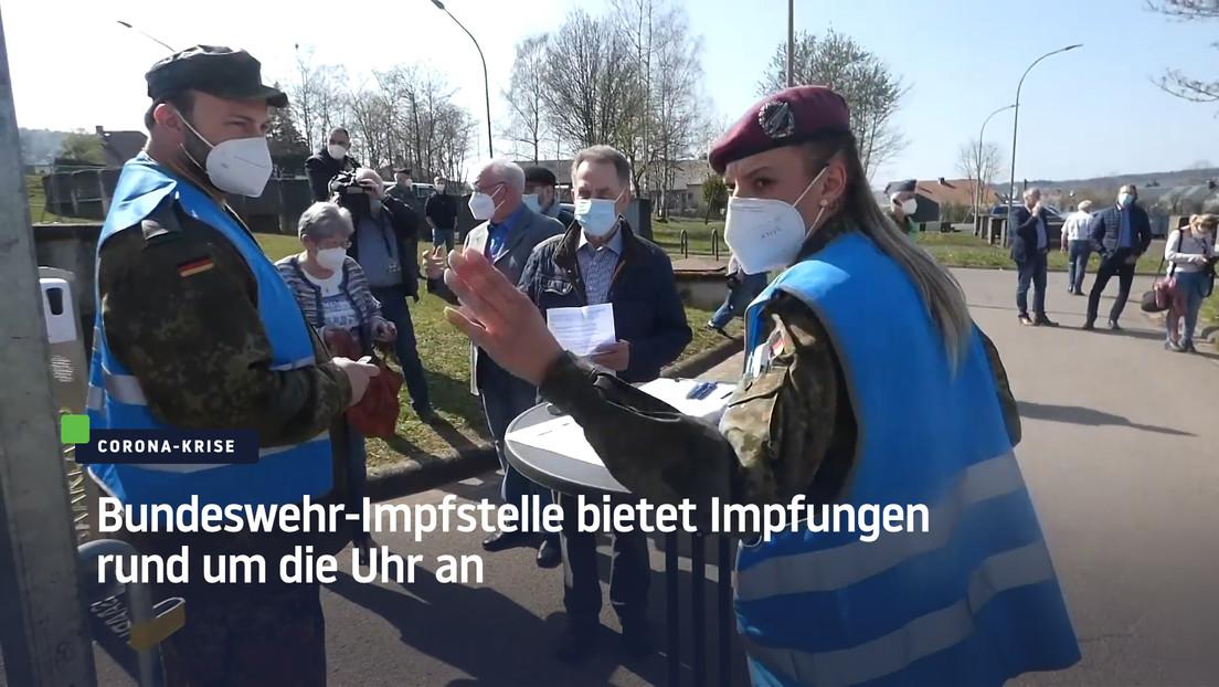 Lebach: Bundeswehr-Impfstelle bietet Impfungen rund um die Uhr an