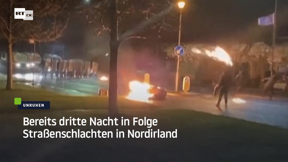 Nordirland: Bereits dritte Nacht in Folge Straßenschlachten zwischen Jugendlichen und Polizei