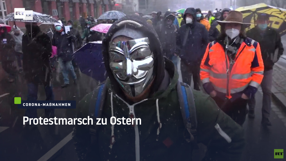 Nürnberg: Protestmarsch gegen die Corona-Maßnahmen am Ostermontag