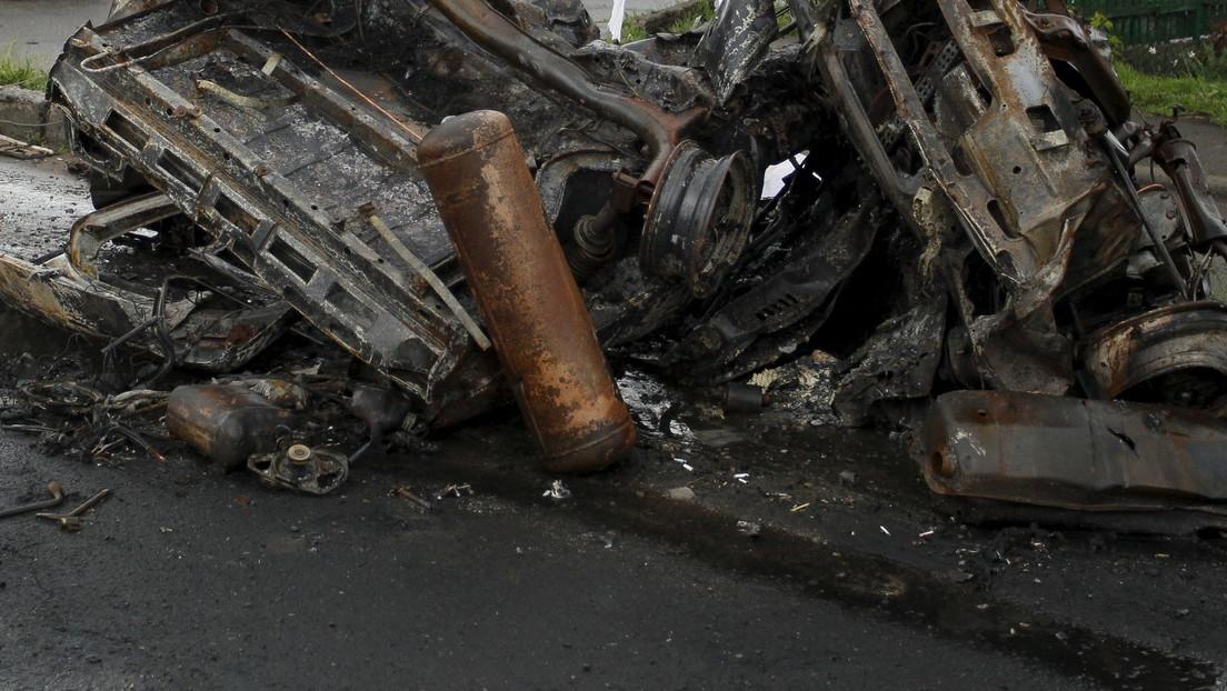 Autobombe explodiert in Charkov nur Wochen nach dem Bombenanschlag auf Demonstration
