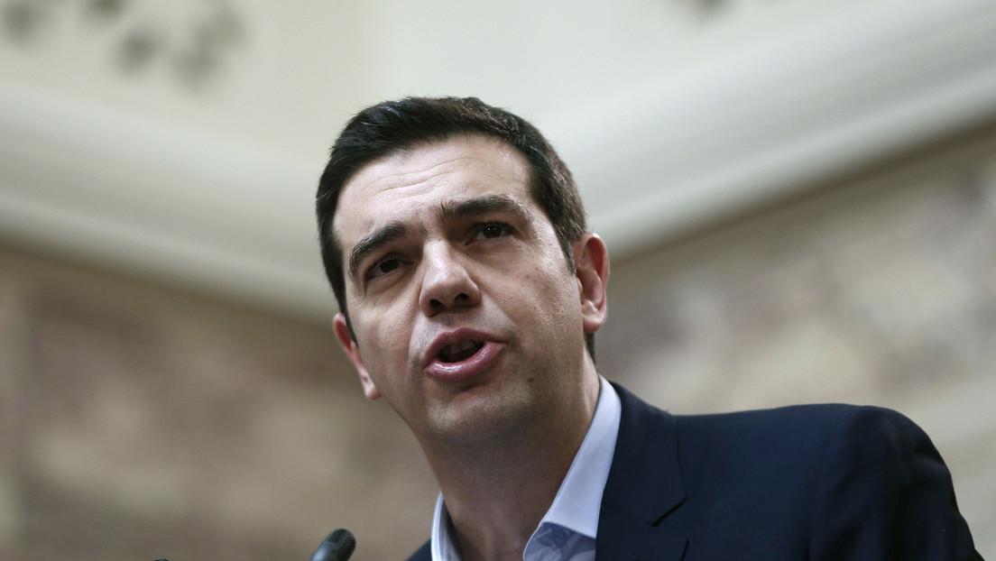 Tsipras und OECD-Generalsekretär geben gemeinsame Pressekonferenz