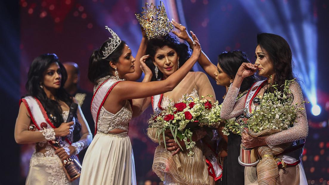 Krone vom Kopf gerissen: Streit bei Schönheitswettbewerb auf Sri Lanka eskaliert