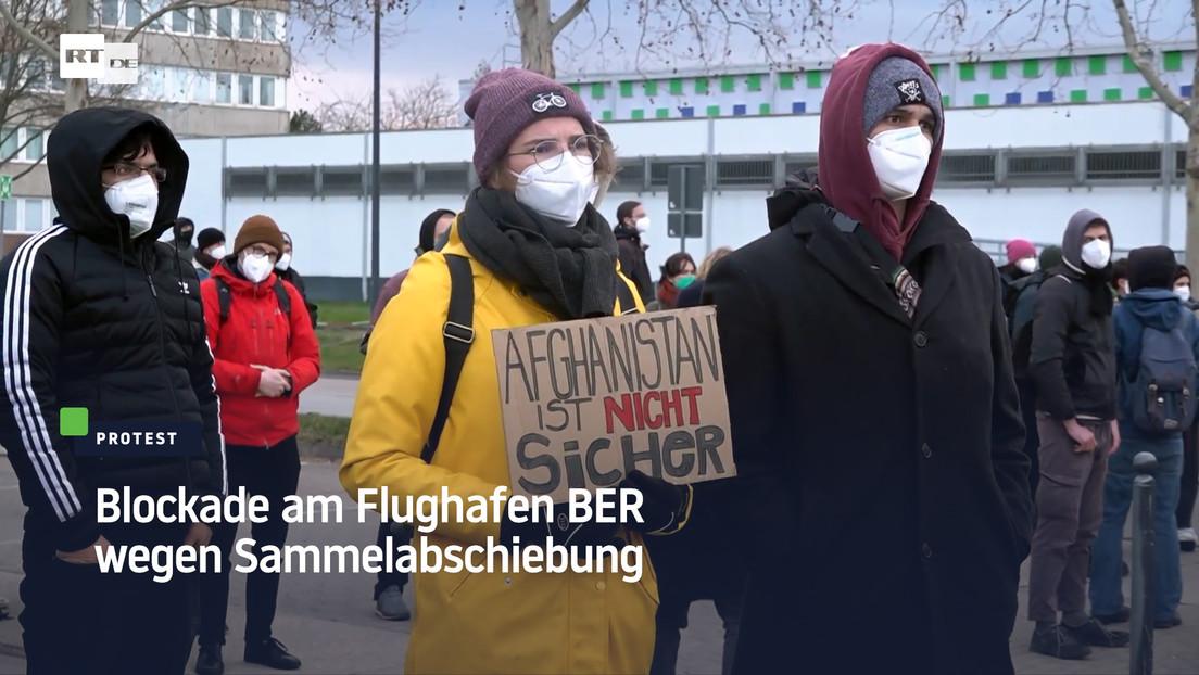 Berlin: Blockade am Flughafen BER wegen Sammelabschiebung