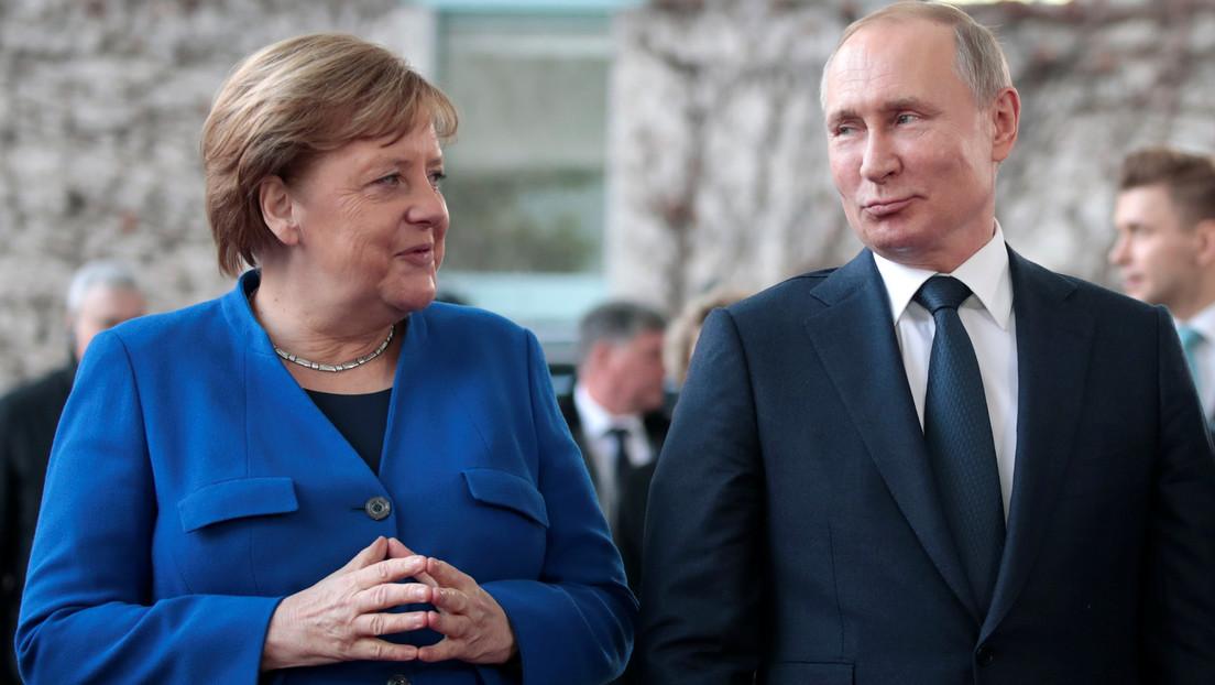 Wladimir Putin telefoniert mit Angela Merkel über Lage in Ukraine und Syrien