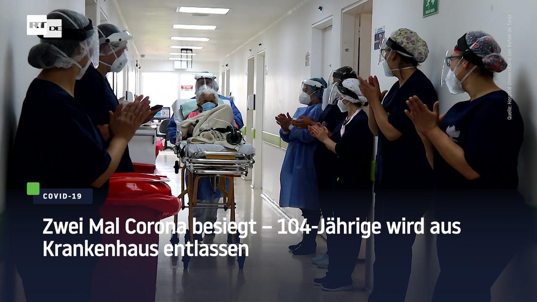 Zwei Mal Corona besiegt – 104-Jährige wird aus Krankenhaus entlassen