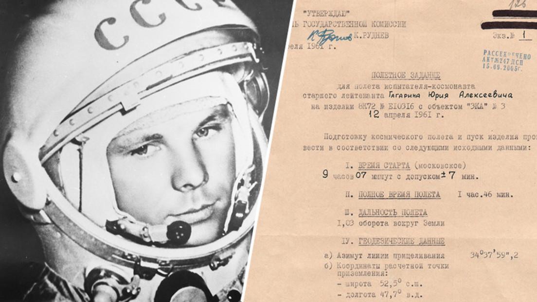 Russland veröffentlicht historische Dokumente zu Juri Gagarin und anderen Kosmonauten