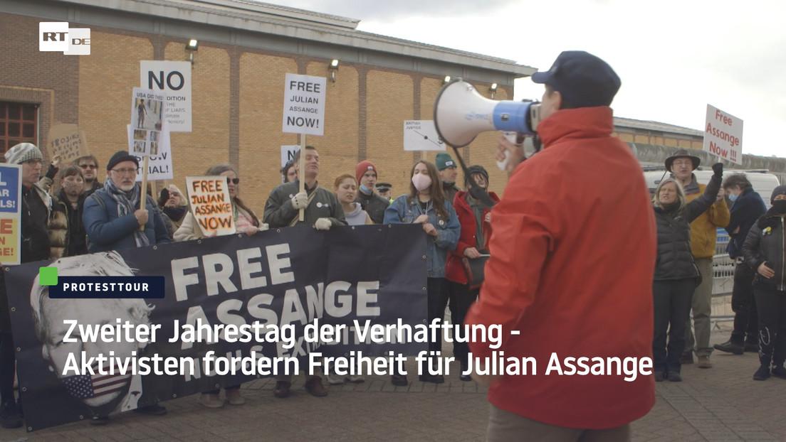 Zweiter Jahrestag der Verhaftung – Aktivisten fordern Freiheit für Julian Assange