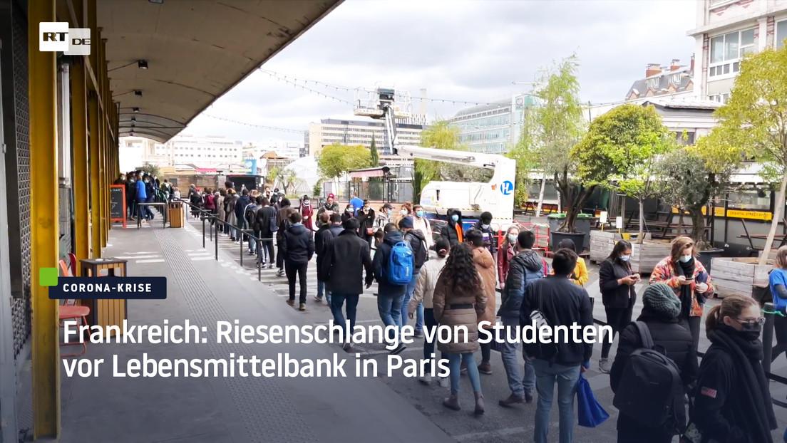 Frankreich: Riesenschlange von Studenten vor Lebensmittelbank in Paris