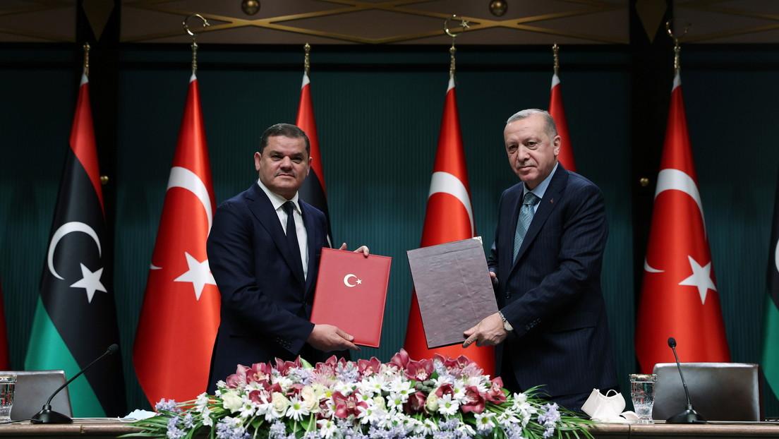 Erdoğan und Dbeiba bekräftigen ihr Bekenntnis zum umstrittenen Seegrenzabkommen von 2019
