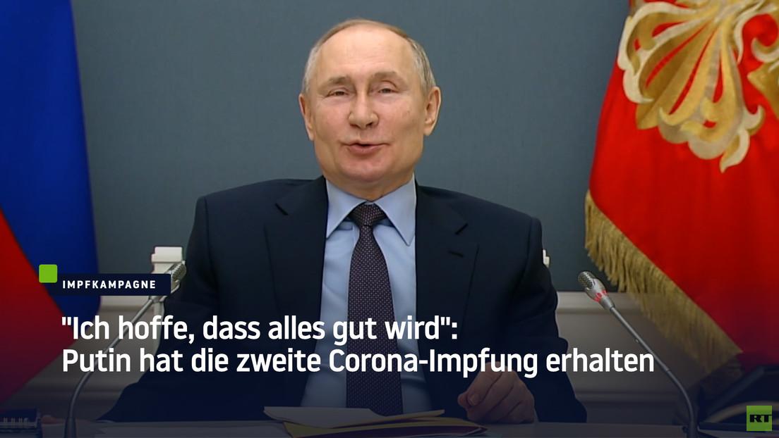 """Putin hat die zweite Corona-Impfung erhalten: """"Ich hoffe, dass alles gut wird"""""""