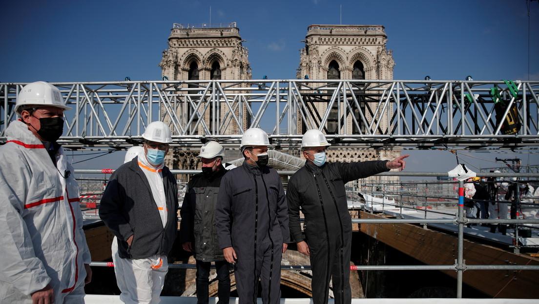 Zweiter Jahrestag der Brandkatastrophe: Macron verspricht Wiederaufbau von Notre-Dame bis 2024
