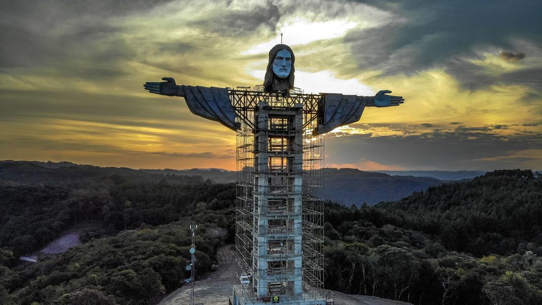 Höher als in Rio de Janeiro: Neue Jesus-Statue in Brasilien