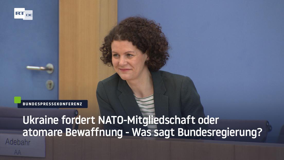 Ukraine stellt Ultimatum: NATO-Mitgliedschaft oder atomare Bewaffnung – Was sagt Bundesregierung?