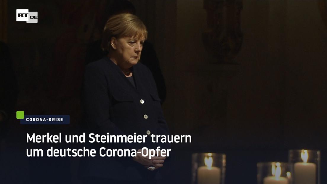 Merkel und Steinmeier trauern um deutsche Corona-Opfer