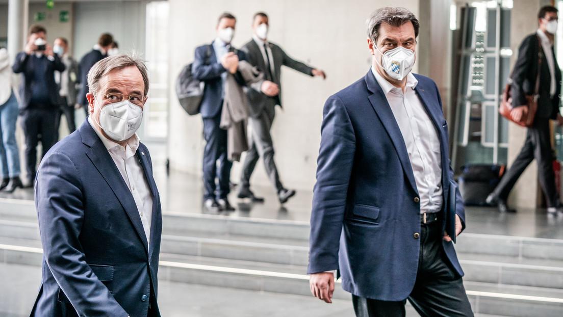 Kanzlerkandidat der Union: Markus Söder akzeptiert CDU-Vorstandsvotum für Laschet